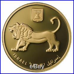 1Oz Gold Coin Fine. 9999 Jerusalem Of Gold The Cardo The Holy Land Mint