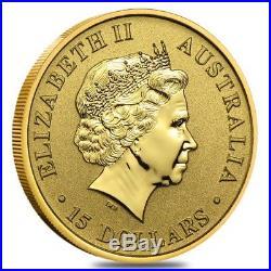 1/10 oz Australian Kangaroo/Nugget Gold Coin. 9999 Fine (Random Year)
