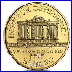 1/10 oz Austrian Gold Philharmonic Coin (Random Year)