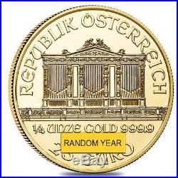 1/4 oz Austrian Gold Philharmonic Coin (Random Year)