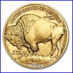 1 Gold 24K 2017 American buffalo 1 Troy oz Bullion $50 Coin