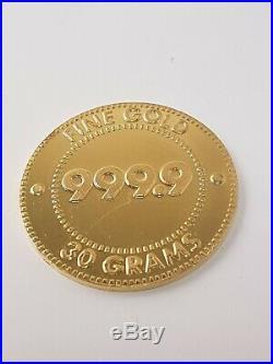 (1) Solid Gold 999.9'mashreqmillionare Golden Summer Promotion' 2001 Coin