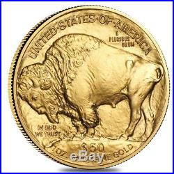1 oz Gold American Buffalo $50 Coin BU (Random Year)