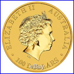 1oz Australian Gold Kangaroo Coin (Random Date). 9999 Fine BU
