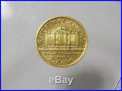 2005 Wiener Philharmoniker 10 Euro Coin 1/10 oz Gold 999.9 Austria Unze