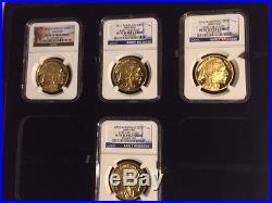 2006-2016 11-Coin Set 1 oz Proof Gold Buffalo PR-70 NGC