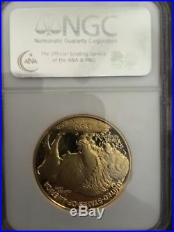 2006 W Buffalo Gold Coin. 9999 Fine NGC PF 70 Ultra Cameo