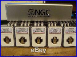 2007-2016 Complete Presidential Dollar Set Ngc Pr70 (all 39 Coins)