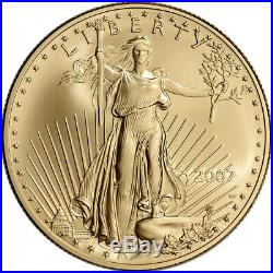 2007-W American Gold Eagle (1 oz) $50 Uncirculated Coin Burnished
