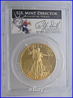 2008-w 1 Oz $50 American Gold Eagle Coin Pcgs Pr69dcam Philip Diehl
