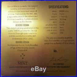 2013 Niue Doctor Who 50th Anniversary Tardis $200 Gold Proof Coin Box #121/250