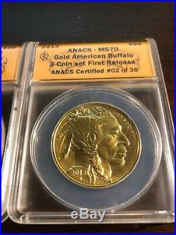 2013 W American Buffalo $50.00 3 Coin Set 1st Strike Coins 3 0z