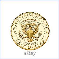2014 W 3/4 oz John F. Kennedy 50th Anniversary Half Dollar Gold Proof Coin