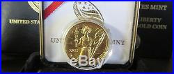 2015 W 1 oz $100 American Liberty High Relief Gold Coin (withBox and COA)