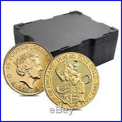 2016 Great Britain 1/4 oz Gold Queen's Beast (Lion) Coin. 9999 Fine BU