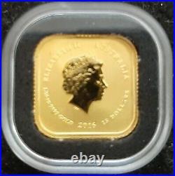 2016 Perth Mint 1/10 oz Gold Map Square Coin Bu $15 (AUD). 9999 Fine Gold