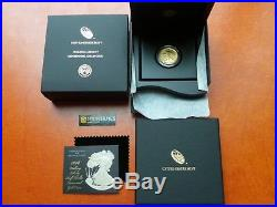 2016 W WALKING LIBERTY HALF OZ GOLD CENTENNIAL COMMEMORATIVE COIN With OGP 16XA