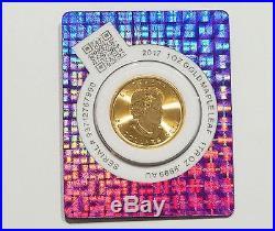 2017 1 oz. 9999 Gold Maple Coin in Certi-Lock Assay Card BU #A417
