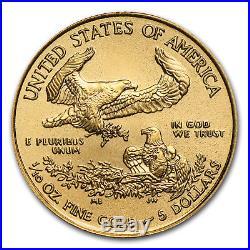 2018 1/10 oz Gold American Eagle (50-Coin MintDirect Tube) SKU#152661