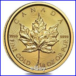 2018 1/4 oz Canadian Gold Maple Leaf $10 Coin. 9999 Fine BU (Sealed)