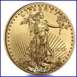 2018 1/4 oz Gold American Eagle $10 Coin BU