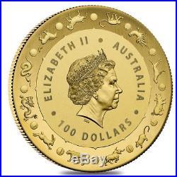2018 1 oz Gold Lunar Year of the Dog Coin. 9999 Fine BU Royal Australian Mint