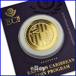 2018 1 oz Montserrat. 9999 Gold Coin BU 1 Troy Oz Gold #A472