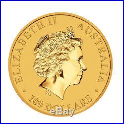 2018 1oz Australian Gold Kangaroo $100 Coin. 9999 Fine BU