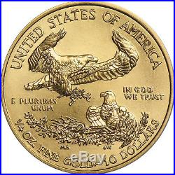 2018 Gold American Eagle Quarter Ounce BU Gold Coin