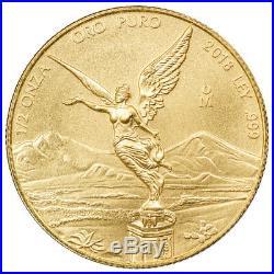 2018-Mo Mexico Gold Libertad 0.50 Onza Coin GEM BU SKU54879