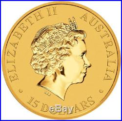 2018-P Australia 1/10 oz Gold Kangaroo $15 Coin GEM BU SKU49071
