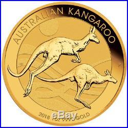 2018-P Australia 1 oz Gold Kangaroo $100 Coin GEM BU SKU49067