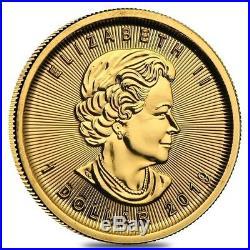2019 1/20 oz Canadian Gold Maple Leaf $1 Coin. 9999 Fine BU (Sealed)