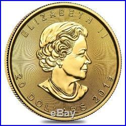 2019 1/2 oz Canadian Gold Maple Leaf $20 Coin. 9999 Fine BU (Sealed)