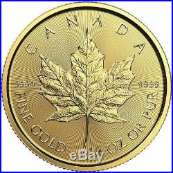 2019 1/4 oz Canadian Gold Maple Leaf Coin BU