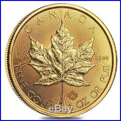 2019 1 oz Canadian Gold Maple Leaf $50 Coin. 9999 Fine BU