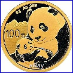 2019 8 Gram Chinese Gold Panda Coin BU