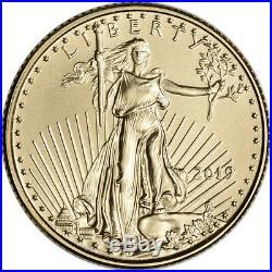 2019 American Gold Eagle 1/10 oz $5 BU Ten 10 Coins