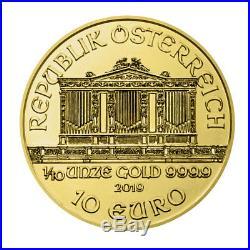 2019 Austria 1/10 oz Gold Philharmonic 10 Coin GEM BU SKU56443