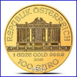 2019 Austrian 1 oz. 9999 Fine Gold Philharmonic Coin Gem Uncirculated (BU)