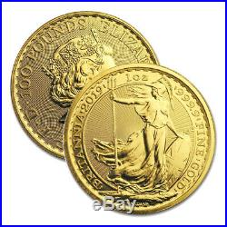 2019 Gold Great Britain 1 oz Gold Britannia Coin. 9999 Fine