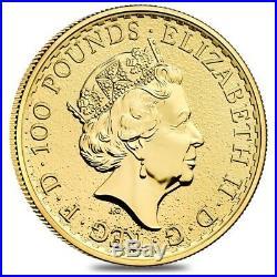 2019 Great Britain 1 oz Gold Britannia Coin. 9999 Fine BU