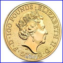2019 Great Britain 1 oz Gold Queen's Beasts (Falcon) Coin. 9999 Fine BU