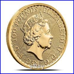 2019 Great Britain (UK) 1 oz £100 Gold Britannia Coin. 9999 Fine Gem BU
