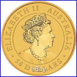 2019-P Australia 1/2 oz. Gold Kangaroo $50 Coin GEM BU SKU55531