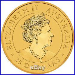 2019-P Australia 1/4 oz. Gold Kangaroo $25 Coin GEM BU SKU55530