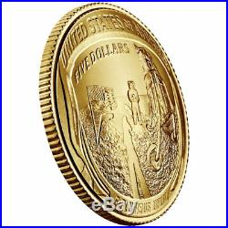 2019-W $5 Gold Coin Apollo 11 50th Anniversary PCGS First Strike MS70
