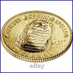 2019-W $5 Gold Coin Apollo 11 50th Anniversary PCGS First Strike PR70