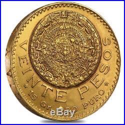 20 Pesos Mexican Gold Coin AU/BU (Random Year)