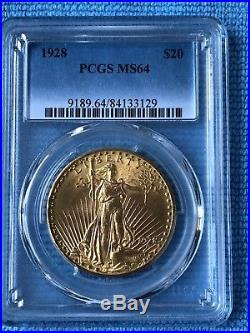 $20 US Gold Double Eagle, St. Gaudens. 1928, PCGS MS64. Great Investment Coin